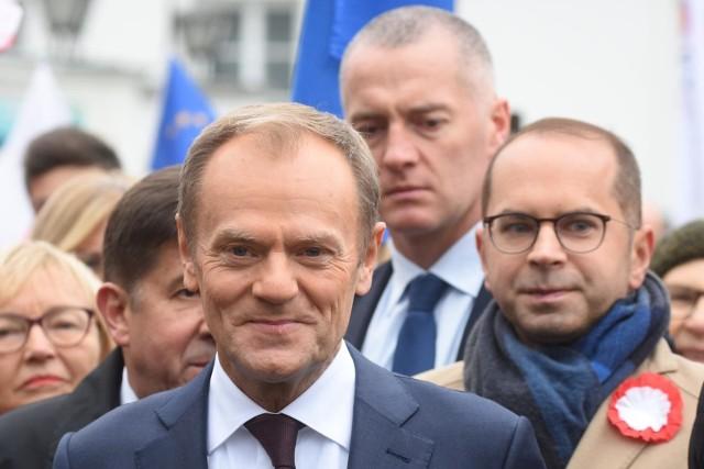Na wykład Donalda Tuska stawią się liderzy Koalicji Europejskiej