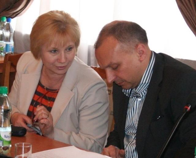 Radni Urszula Wołosiewicz i Wojciech Krzyżanowski