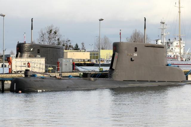 Rok 2015. Polskie okręty podwodne typu Kobben porcie wojennym na Oksywiu