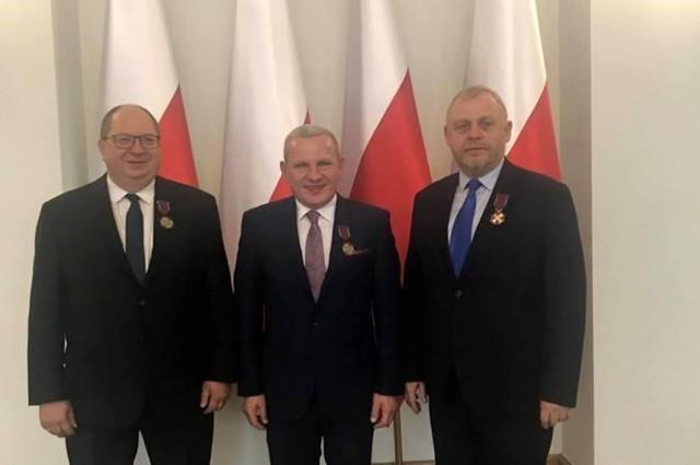 Na zdjęciu od lewej: Ryszard Mańko, Grzegorz Budziosz, Stanisław Hojda.