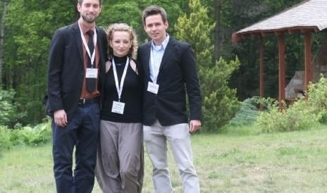 Dyrektor programu Michał Żak oraz koordynatorzy Magdalena Janowska oraz Sacha Fahrbach.