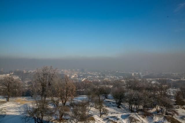 Panorama Krakowa z poprzedniej zimy