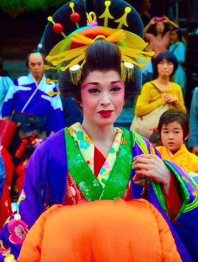 Yuka Hibiki, japońska aktorka w roli legendarnej kurtyzany Oiran
