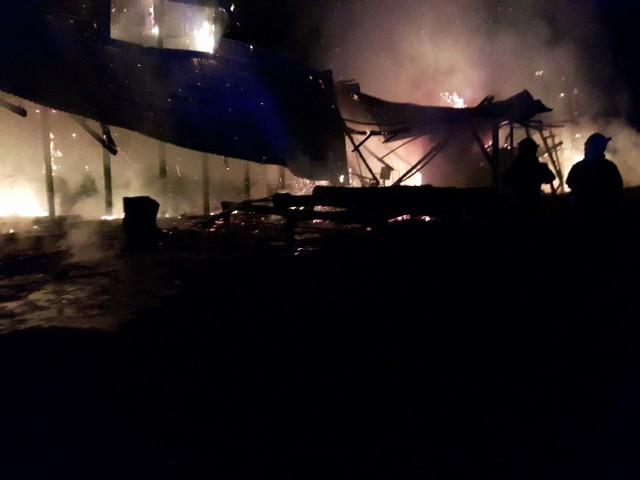W akcji gaszenia tartaku wzięli również strażacy z OSP Jaziewo.
