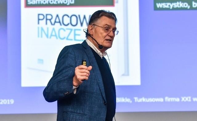 Jednym z gości poprzednich edycji BiznesTrendy był m.in. Andrzej Blikle, polski informatyk, profesor nauk matematycznych, członek Rady Języka Polskiego, pracownik naukowy, specjalista w zakresie matematycznych podstaw informatyki, a także mistrz cukierniczy.