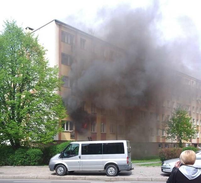 Pożar w Koszalinie