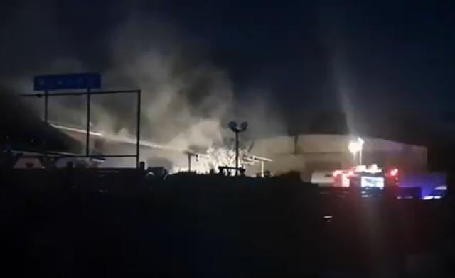 Pożar serwisu opon w Bystrzycy Kłodzkiej