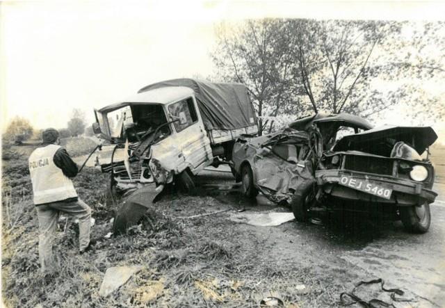 Wypadki na drogach Opolszczyzny 20, 30 i więcej lat temu.