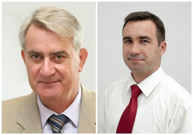 Jacek Sommerfeld (z prawej), dotąd radny oraz wieloletni wójt Mariusz Poznański.