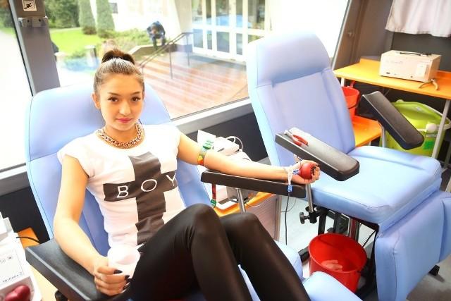 Kinga Jurkowska zdecydowała się oddać krew już po raz czwarty.