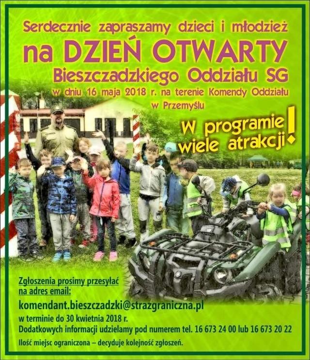 Straż graniczna z Przemyśla zaprasza dzieci i młodzież na dzień otwarty.