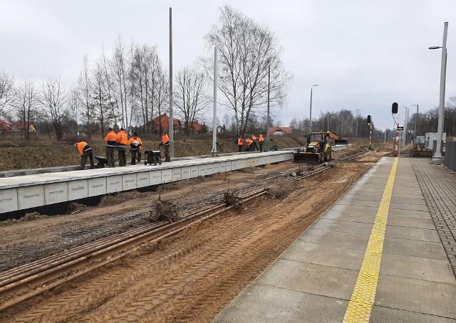 Budowa drugiego peronu w Zgierzu Północ