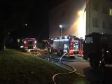 Nocny pożar na poddaszu kamienicy przy ul. Krasickiego w Oświęcimiu