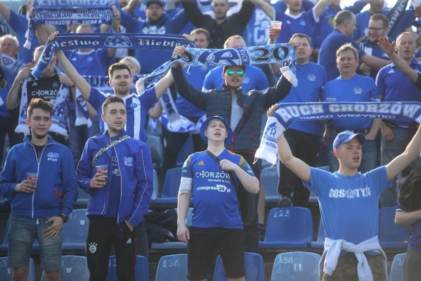 02.06.2021. Kibice na meczu Ruch Chorzów - Miedź II Legnica....