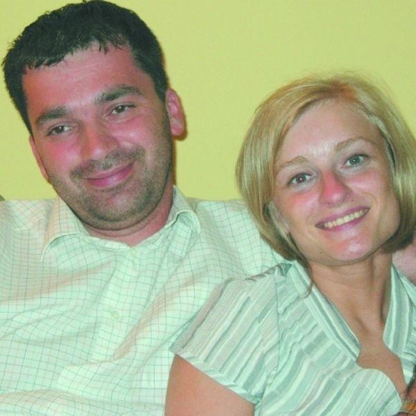 Dyrektor Adam Chudek z żoną, która też jest nauczycielką