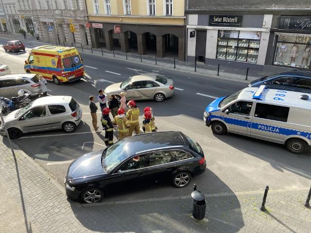 Wypadek na ulicy Ozimskiej w Opolu.