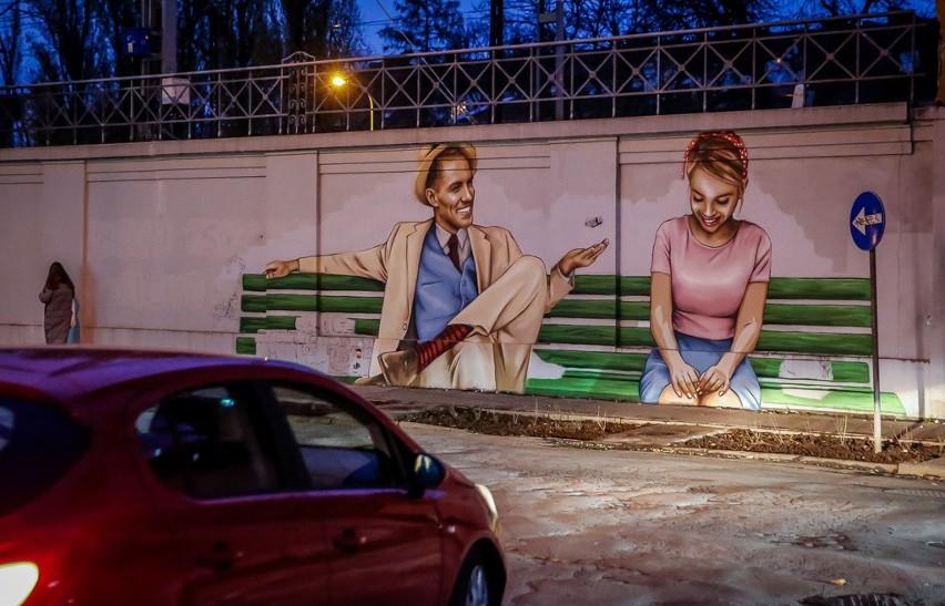 """Autorem muralu jest znany trójmiejski artysta Marek """"Looney""""..."""