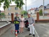 Starosta grudziądzki motocyklem odwiedził Lipno