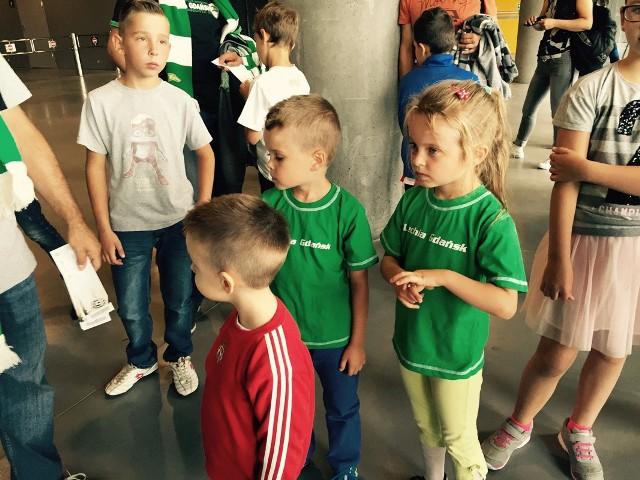 Dziecięca eskorta na meczu Lechia-Juventus