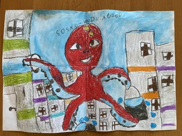 Sosnowodniczek. Dzieci przysłały już pierwsze propozycje maskotek dla Sosnowieckich Wodociągów. Konkurs trwa jeszcze do 15 maja. Zobacz kolejne zdjęcia. Przesuń zdjęcia w prawo - wciśnij strzałkę lub przycisk NASTĘPNE