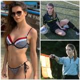 Piękna sędzia piłkarska z Krakowa Karolina Bojar, którą zachwycali się także Brytyjczycy [ZDJĘCIA]