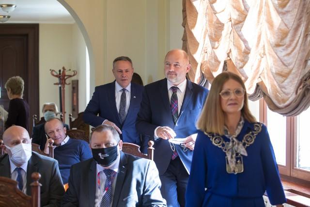 Piotr Całbecki był gościem nadzwyczajnej sesji Rady Miasta Bydgoszczy