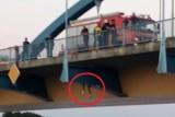 Kolejna próba samobójcza na granicznym moście w Słubicach. Most był zablokowany. Mężczyzna mimo negocjacji skoczył z mostu