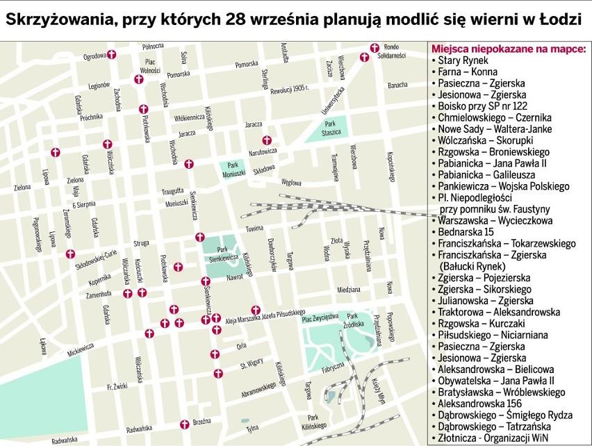 Koronka na Ulicach Miast Świata: Modlitwa na ulicach Łodzi
