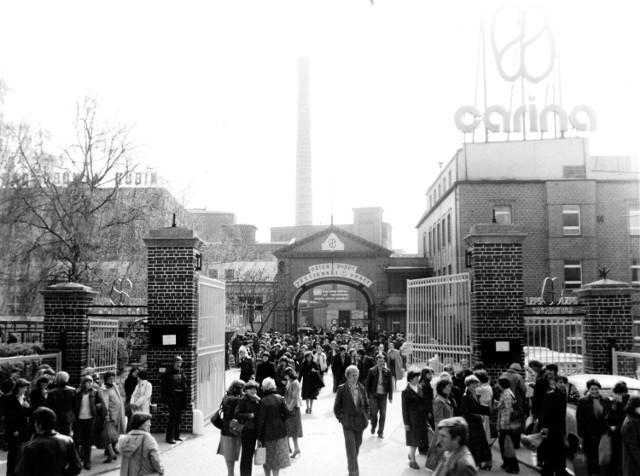 Zakład obuwniczy w latach swojej świetności. Carina była jedną z największych fabryk w okolicy.