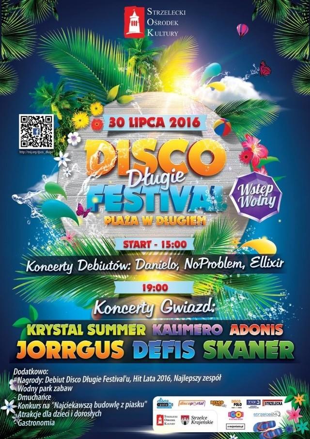"""W sobotę 30 lipca na plaży w Długiem odbędzie się """" Disco Długie Festival"""". Czyli zabawa z muzyką disco polo."""