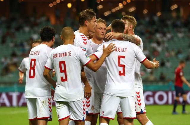 Mecz 1/4 finału Euro 2020 Czechy - Dania w Baku