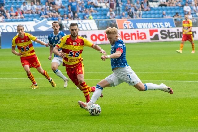 Lech zakończył sezon z przytupem. Po meczu z Jagiellonią Białystok wygranym 4:0 ciężko kogokolwiek krytykować. Zobacz nasze oceny wszystkich zawodników w tym meczu (noty od 1 do 10). Zobacz oceny ---->
