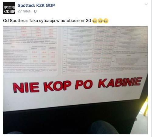 Wpisy ze Spotted KZK GOP