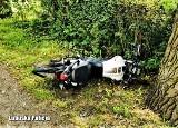 Bez prawa jazdy, na kradzionym motorze uciekał policji w okolicach Boczowa