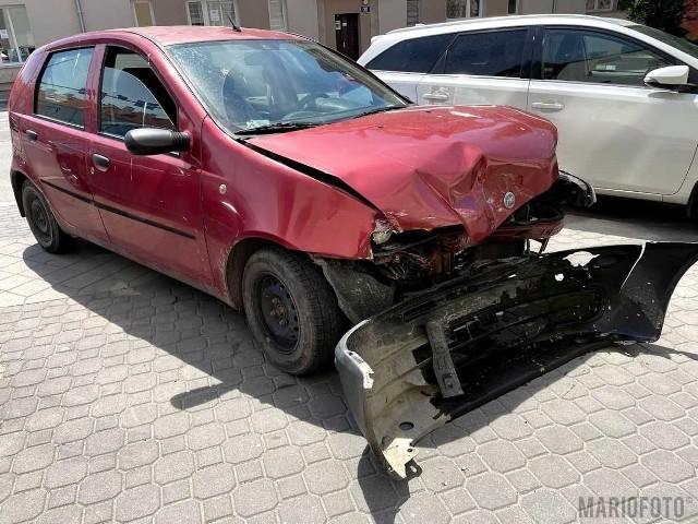 Zderzenie dwóch samochodów w Opolu.