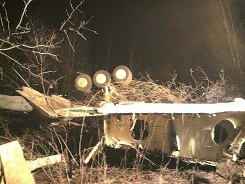 Noc po katastrofie pod Smoleńskiem