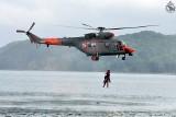 Akcja ratunkowa na Bałtyku 18.01.2020. Śmigłowiec W-3WARM podjął chorego z promu płynącego do Gdyni
