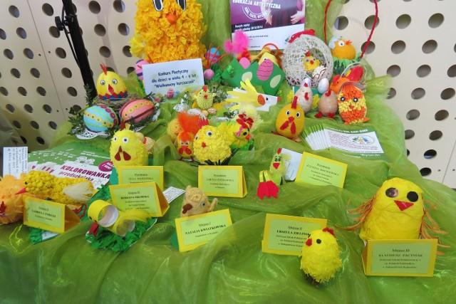 Prace dzieci wyeksponowano na wystawie VIII Powiatowych Prezentacji Potraw i Tradycji Wielkanocnych.