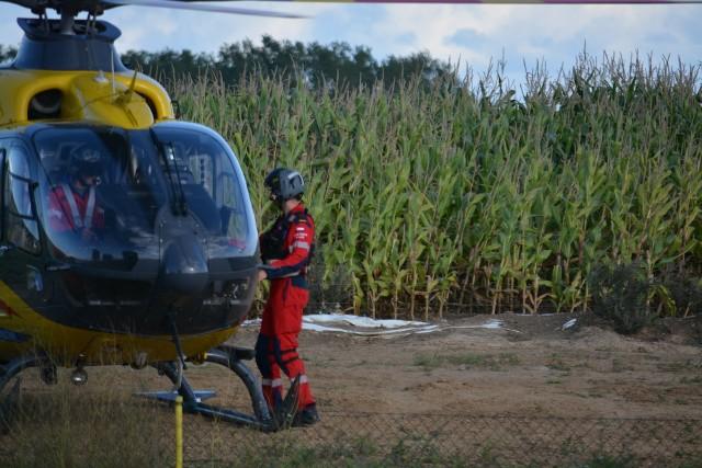 """Na torze motocrossowym """"Plebanka"""" w Więcborku doszło do wypadku. Śmigłowiec zabrał 14-latka do szpitala"""