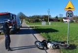 Wypadek w podbytowskiej Rzepnicy. Ranny został motocyklista