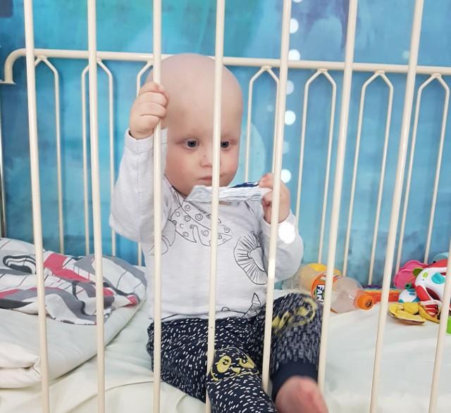 Michałek Kobylski z Żar potrzebuje pilnie pomocy. Półtoraroczny chłopiec choruje na nowotwór złośliwy.