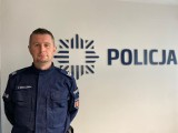 Patryk Wróblewski, policjant ze Świecia uratował życie przygniecionemu mężczyźnie