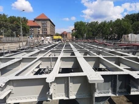 Remont mostów Pomorskich we Wrocławiu.