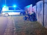 SKWIERZYNA. 19-latek nie opanował quada. Wjechał w betonowe ogrodzenie, wylądował w szpitalu