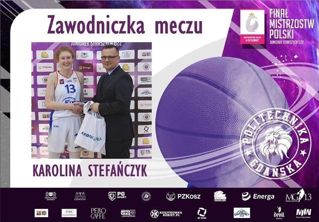 Karolinę Stefańczyk z Enei AZS zgodnie z oczekiwaniami wybrano zawodniczką meczu o brązowym medal MP do lat 22