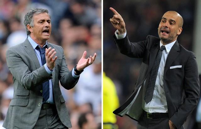 """Nie przesadzimy pisząc, że mecze zespołów prowadzonych przez Jose Mourinho i Pepa Guardioli to jedna najbardziej zaciętych i emocjonujących rywalizacji w historii piłki nożnej. Swojego czasu powstała nawet książka """"Mourinho vs. Guardiola"""". Przyłączając się do popularnej ostatnio zabawy postanowiliśmy wytypować (całkowicie subiektywnie) najlepsze jedenastki spośród piłkarzy, których dane im było prowadzić. Staraliśmy się przy tym zachować proporcje i nie przesadzać np. z liczbą środkowych napastników. Który team (na papierze) jest lepszy i kogo byście ewentualnie wymienili...Uruchom galerię klikając w ikonę """"następne zdjęcie"""", strzałką w prawo na klawiaturze lub gestem na ekranie smartfonu"""
