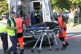 Wypadek w Tarnobrzegu. W zderzeniu z mercedesem ranny został 17-letni motocyklista (ZDJĘCIA)