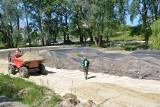 Stalowa Wola. W parku już powstał pumptruck, ale jeszcze nieudostępniony do jazdy