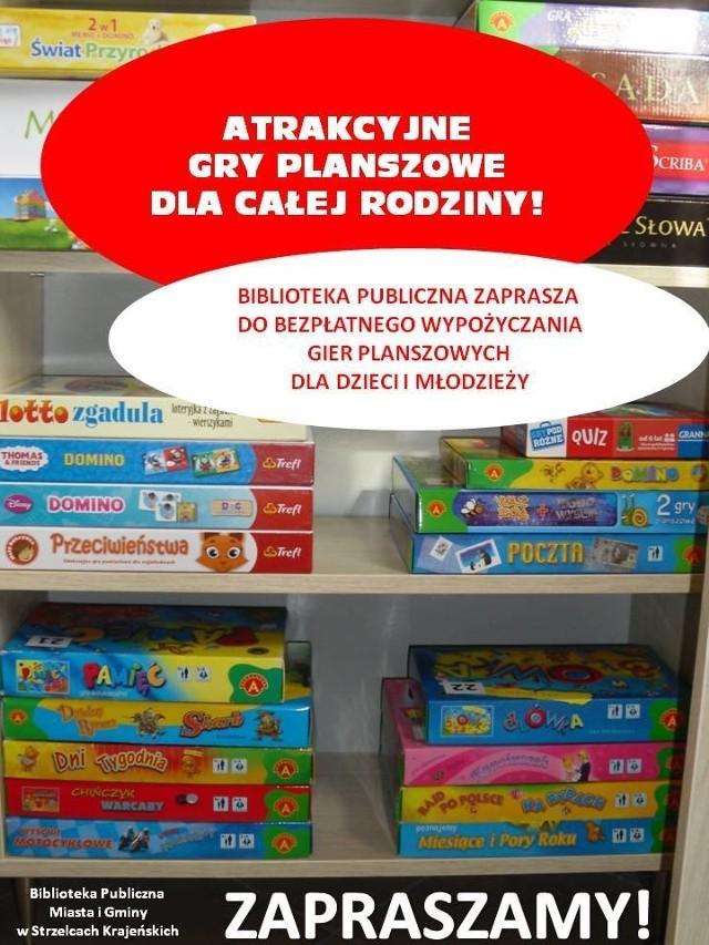 Biblioteka w Strzelcach Krajeńskich ma nową ofertę. Teraz można też wypożyczać gry planszowe.