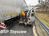 Tragiczny wypadek na nowej trasie S5. Nie żyje pracownik służby drogowej. Zmarł w szpitalu